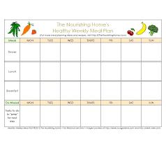 Excel Weekly Meal Planner Weekly Meal Plan Template Excel Planning Planner Skincense Co