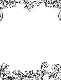 word for black and white fancy black and white border