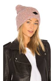 rag bone devin beanie in pink multi