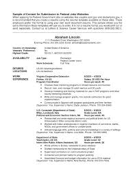 Resume Format Usa Jobs Resume Sample Resume For Government