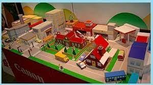 As melhores plataformas para planejar o espaço e a organização de sua casa. Maquete De Cidade Papercraft Para Montar Em Papel Ideal Para Maquete Escolar Maquete De Papel