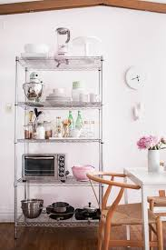 How to Style Wire Shelves for a Living Space & Kitchen // styling by Alaina