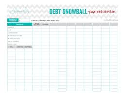Debt Snowball Payment Schedule Beautiful And Perfect Worksheet