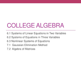 college algebra 6 1 systems of linear equations in two variables