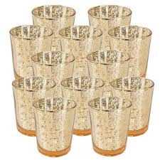 just artifacts mercury glass votive candle holder 4 h set of 12 speckled gold mercury glass votive tealight candle holders for weddings parties and home