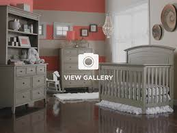 Modern Gray Primo Collection Convertible Crib Grey Satin Finish