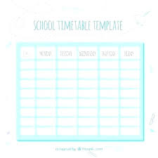 College Weekly Schedule Maker Class Schedule Maker For Students Template Timetable