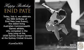 "Sydney Cricket Ground on Twitter: ""HAPPY 98th Birthday Enid Pate ..."