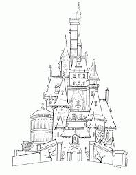 Small Picture Disney Castle Coloring Pages Stunning Coloring Disney Castle