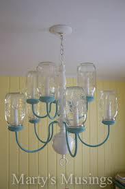 mason jar chandelier by marty s musings
