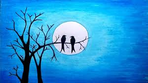 a beautiful moonlight scenery drawing tutorial step by step with oil pastel