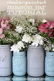 How To Decorate Mason Jars Impressive ChalkPainted Mason Jar Tutorial Maison De Pax