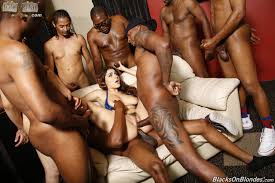 Gang bang black on white