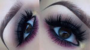 dark smokey eye with a pink twist makeup tutorial