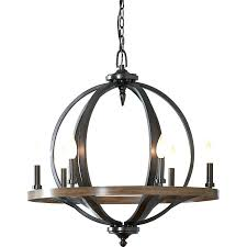 6 light chandelier 6 light candle style chandelier vineyard metal and wood 6 light chandelier with