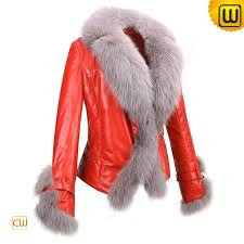 women red leather fur jackets cw611205 jackets cwmalls com
