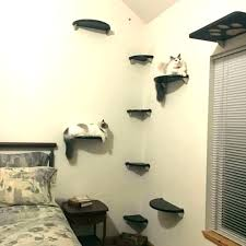 wall mounted cat stairs perch furniture floating corner tree lunar cl wall mounted cat stairs