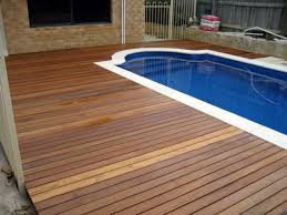 Engaging Ideas For Pool Deck Materials Dark Wood With Sapphire - Exterior decking materials