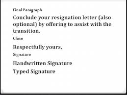 How Do You Write A Letter Of Resignation Resignation Letter Powerpoint