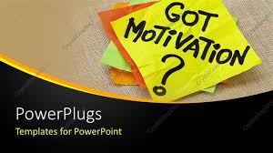 Motivation Templates Powerpoint Template Motivation Post It Sticky Notes On Canvas