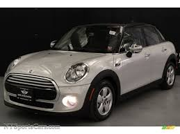 white silver metallic carbon black mini cooper hardtop 4 door