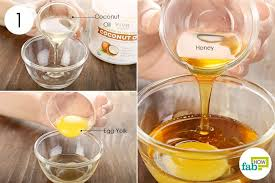 combine coconut oil honey and egg yolk