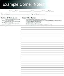 Avid Notes Note Paper Template Taking Cornell Print Out Printable