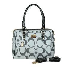 Coach Madison Logo Medium Grey Luggage Bags - Coach Monogram Bleecker  Backpacks - Click Image to.