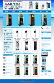 Website mẫu bán máy lọc nước cho Cty Bissan Việt Nam - Thiết kế website  trên toàn quốc