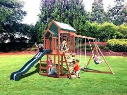 small backyard swing sets single wood set astonishing photo ideas diy kits backyard swings