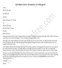 goodbye letters to colleagues