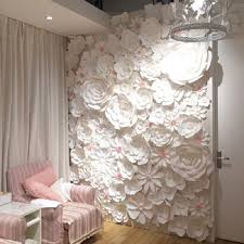 Paper Flower Wedding Backdrops Us 849 15 15 Off 84pcs Set Large Full Wall Giant Paper Flowers Wedding Backdrop Backdrops Wedding Decoration Windows Display Photo Booth In Party