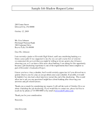 Job Shadow Request Letter Samples Enom Warb Collection Of Solutions