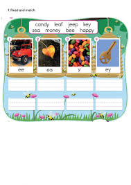 Includes differentiated support and independent sheets. Phonics Ee Ea Y Ey Worksheet