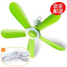 mini micro fan silent small ceiling fan student dormitory mosquito net fan fan electric fan fan 42cm new green 4m national standard extension cord