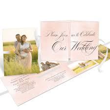 Simple Script Ribbon Booklet Wedding Invitation Pear Tree