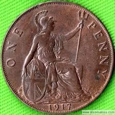 1917 Uk Penny Value George V