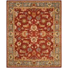 heritage red blue 9 ft x 12 ft area rug