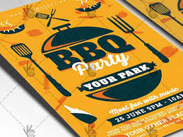 Bbq Fundraiser Flyer Bbq Party Flyer Psd Template By Psd Market Dribbble Dribbble