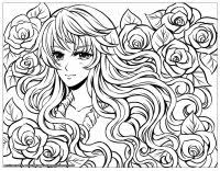 Small Picture Manga Anime Coloring pages for adults JustColor