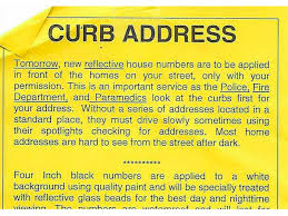 city painting house numbers on curbs not required