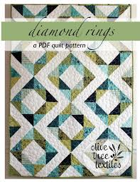 modern quilt patterns by olive tree textiles & diamond rings quilt pattern by olive tree textiles Adamdwight.com