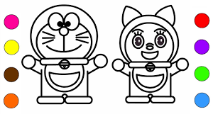Nobita went to a world of animals through the 'wherever gas', the substance to let you travel anywhere, same as the 'wherever door' doraemon uses. Doraemon And Dorami Coloring Doraemon And Dorami Coloring