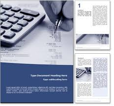royalty  accounting microsoft word template in blue accounting word template document