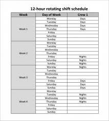 007 Template Ideas 20hour Shift Schedules Excel Calendar