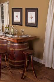 Wine Barrel Kitchen Table Wine Barrel Bar And Island Set With Wine Rack And Storage