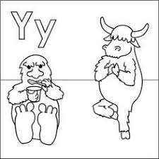 Small Picture Y for yak coloring page with handwriting practice link to actual