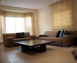 creative brown living room design with high elegant impression ergonomic recliner sofa plus twin table charm impression living room lighting ideas