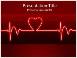 Heart Powerpoint Templates Ecg Heart Beat Free Powerpoint Template And Background