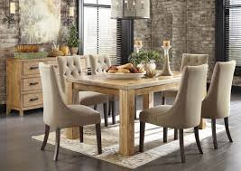 Round Glass Dining Table With Wood Base That Suitable For - Rustic modern dining room chairs